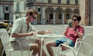 First love … Armie Hammer and Timothée Chalamet in the 2017 film Call Me By Your Name.