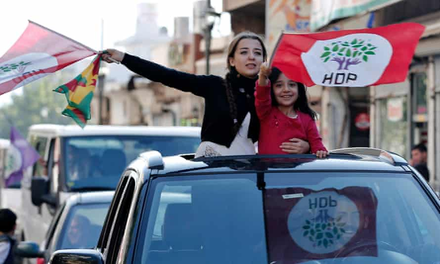 Peoples' Democratic party (HDP) supporters