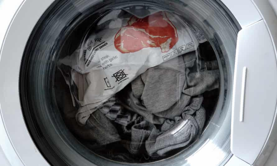 Steak and soap suds … Sous La Vie vacuum-packed food, cooking in a washing machine.