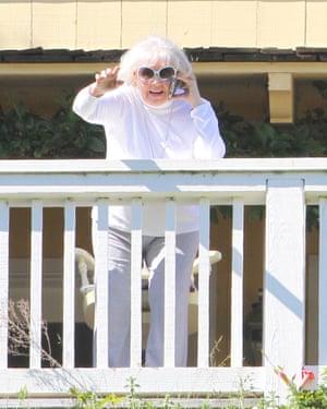 Doris Day at her home in Monterey, California in April 2016