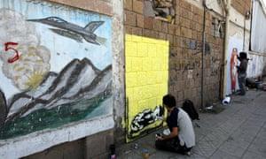 Anti-war graffiti in Sana'a