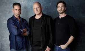 'I'm amazed at how serene they've been through all this': Dan Reed (centre) with Wade Robson (left) and James Safechuck.