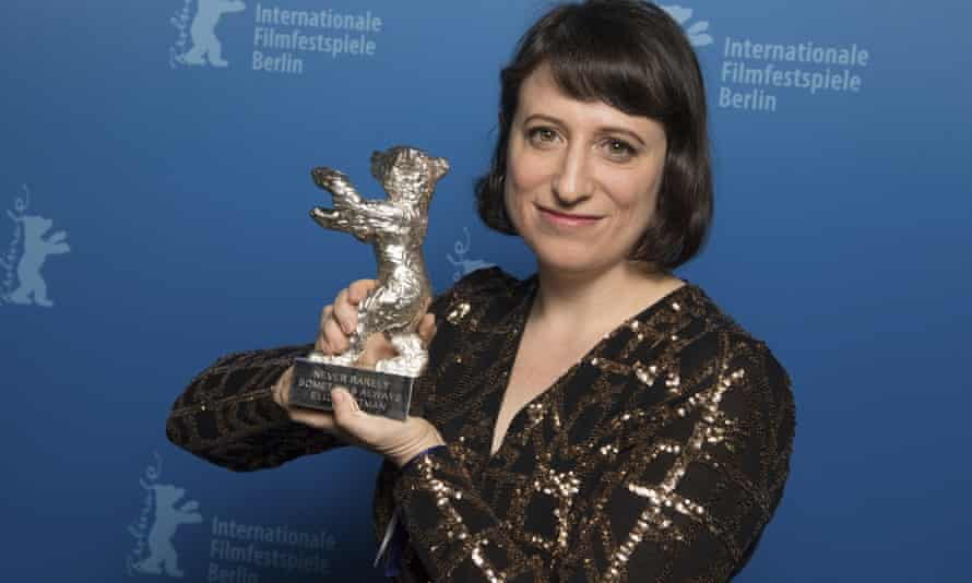 Eliza Hittman with the Silver Bear Grand Jury Prize for Never Rarely Sometimes Always.