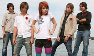 Famous five ... Hunter Lamb, Josh Farro, Hayley Williams, Jeremy Davis and Zac Farro in 2006.