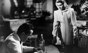 Humphrey Bogart and Ingrid Bergman in a scene from Casablanca, directed by Michael Curtiz.
