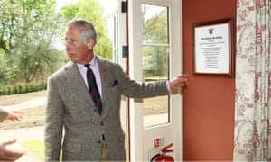 Prince Charles in the Dijian Building, Dumfries House.