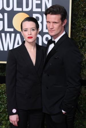Claire Foy and Matt Smith 75th Annual Golden Globe Awards