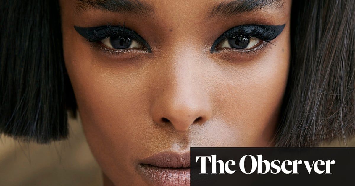 Wings of desire: understated makeup with a flourish