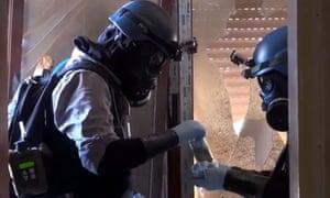 UN inspectors in Syria in August 2013.