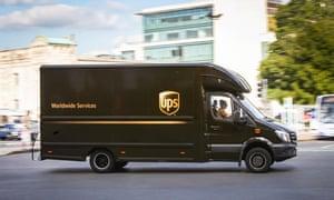 UPS van in Southampton.