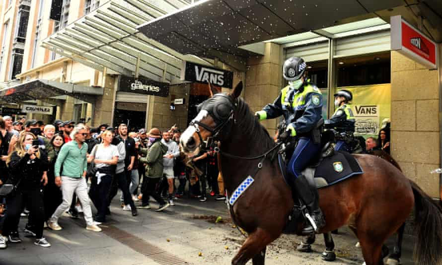 A police strike force has been established after an anti-lockdown rally on Saturday.