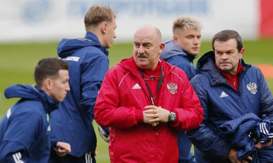 Russia's head coach, Stanislav Cherchesov
