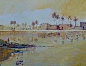 Al Ansi, 2015. Art classes began at the prison in 2009.