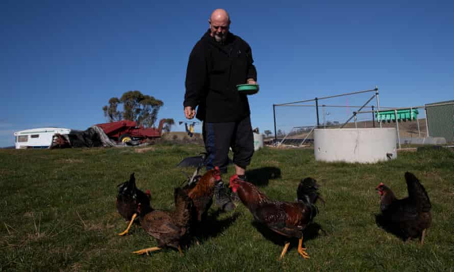 Doug Reidy at his property in Murrindal, east Gippsland. He can no longer work but cannot get the disability support pension.