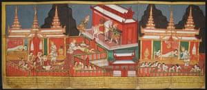 A 19th-century Burmese illustrated manuscript.