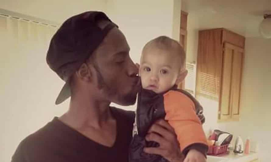 Tragic loss: Jerome Butler, with his nephew Demichael.
