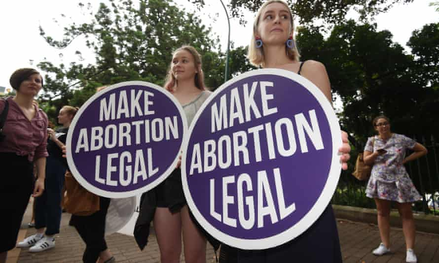 A 2016 abortion-rights protest outside Queensland parliament in Brisbane