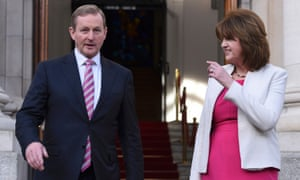 Enda Kenny and Joan Burton head Ireland's coalition government, now in caretaker mode.