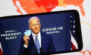 US President-elect Joe Biden says wearing a mask is about health not politics.