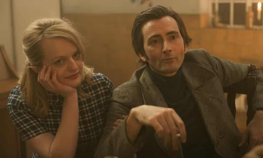 Elisabeth Moss and David Tennant in Mad to be Normal.