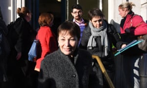 Caroline Lucas, the Green MP, in Westminster today.