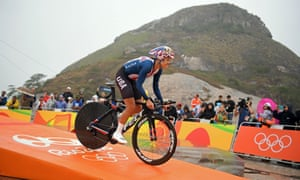 Kristin Armstrong in the women's individual time trial.