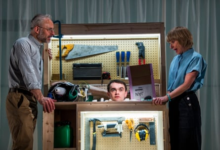 Ingeniously staged … Mark Bonnar, Brian Vernel and Jane Horrocks in Instructions for Correct Assembly.