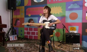 Courtney Barnett performs in the Music From the Home Front concert