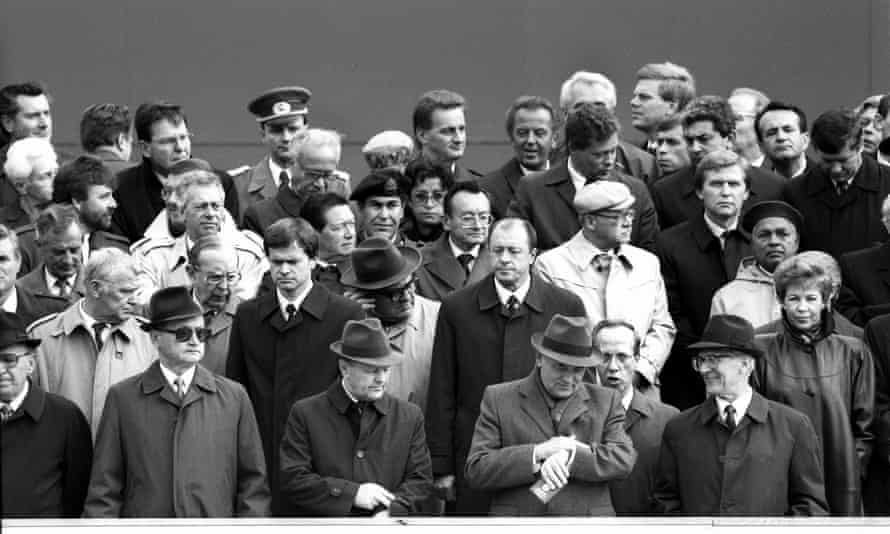 Mikhail Gorbachev, Erich Honecker and other Eastern Bloc head of states, 7 October 1989.