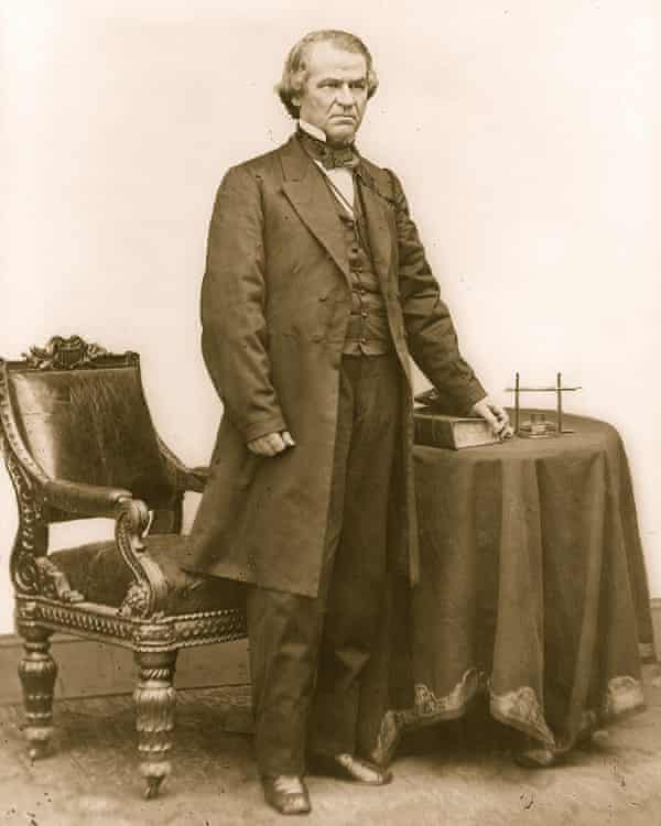 Andrew Johnson, circa 1865.