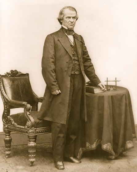 Andrew Johnson, pictured circa 1865