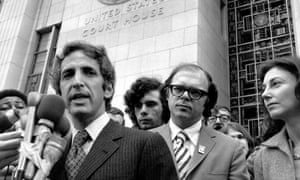 Daniel Ellsberg outside court in 1973.