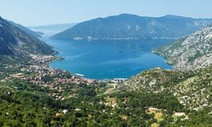 Kotor town and bay, Montenegro.