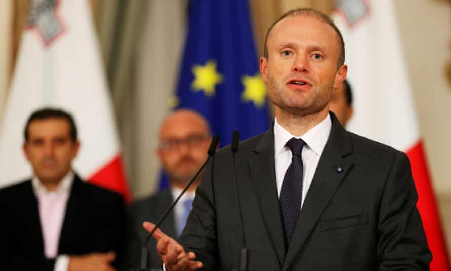 Joseph Muscat at a press conference in Valletta in the early hours of Friday morning.