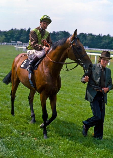 Bustino during the parade before the famous Ascot race.