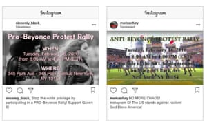 Both pro- and anti-Beyoncé rallies were promoted for the same time and place