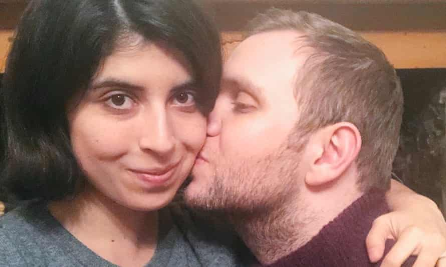Matthew Hedges with his wife, Daniela Tejada. He spent seven months in prison, mostly in solitary confinement.