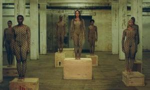 Beyoncé and dancers in Black Is King