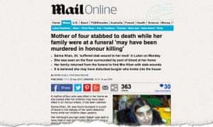 Mail Online article about the killing after headline was altered following Ipso decision.