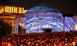 The Harmonium Project, also created by 59 Productions, was beamed on to Usher Hall during last year's Edinburgh festival