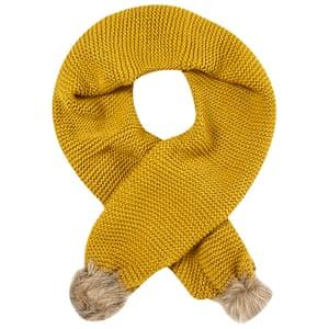 "£29.50, by White Stuff from <a href=""http://www.johnlewis.com/white-stuff-rennie-fur-pom-pom-scarf-yellow/p2237467"">johnlewis.com</a>"