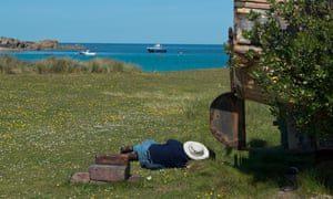 Sleepy community … a nap on Gugh, in the Isles of Scilly.
