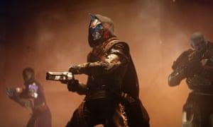 Cayde-6, a robotic gunslinger voice by Nathan Fillion in Destiny 2.