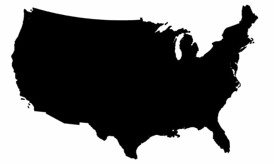 The US logo map - conterminous lower 48 states