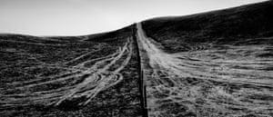 USA. Terra Bella, California. 2020. Burned hillside.