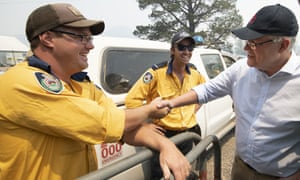 Scott Morrison meets NSW Rural Fire Service volunteers