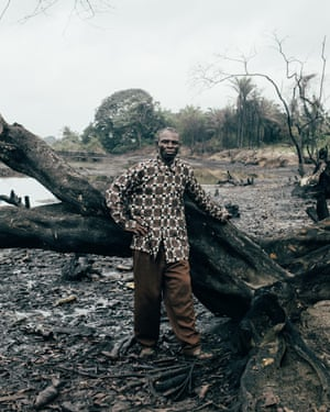 One of the community elders in the polluted areas in B-Dere, Niger delta, Nigeria.