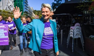 Kerryn Phelps at the official announcement of her candidacy for the federal seat of Wentworth on Sunday.