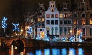 Amsterdam's Light Festival .