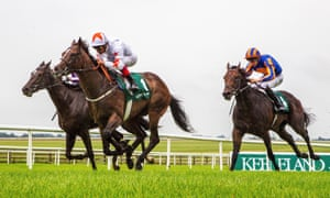 Advertise and Frankie Dettori winning the Phoenix Stakes at The Curragh in August.
